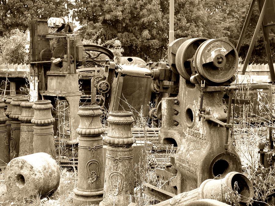 Steam Photograph - Steam Junkyard by Roberto Alamino