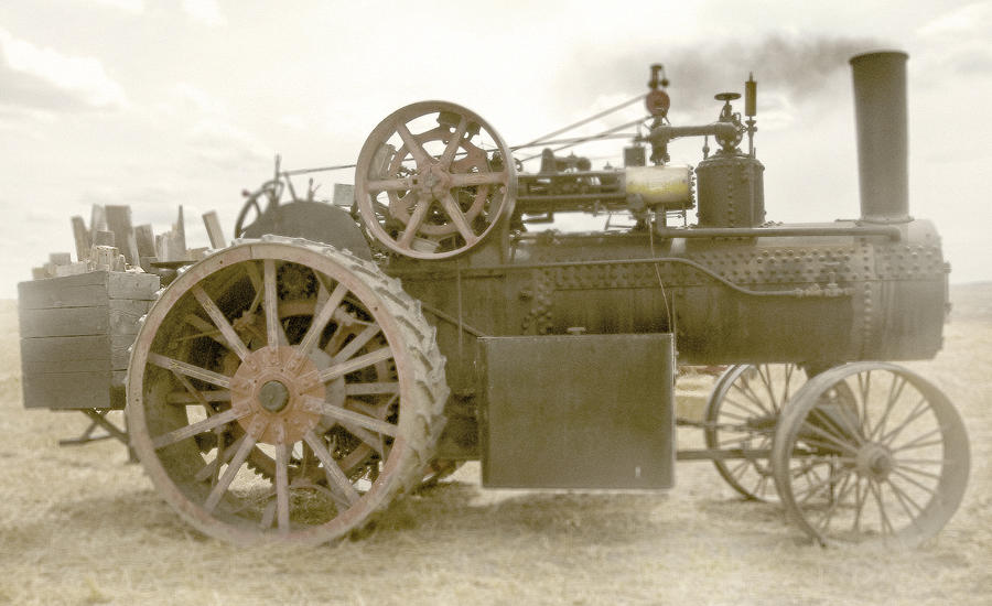 Tractor Photograph - Steam Tractor by Kevin Felts