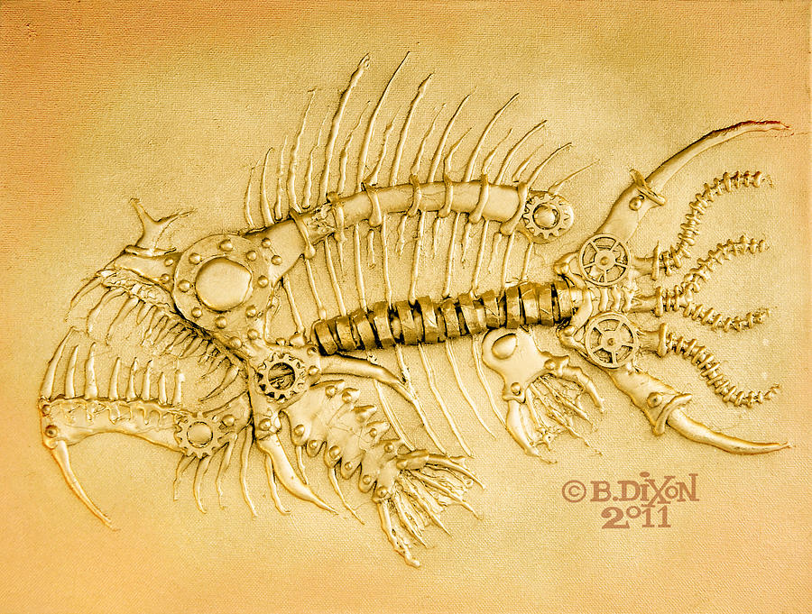 Steampunk Painting - Steamfish 1 by Baron Dixon