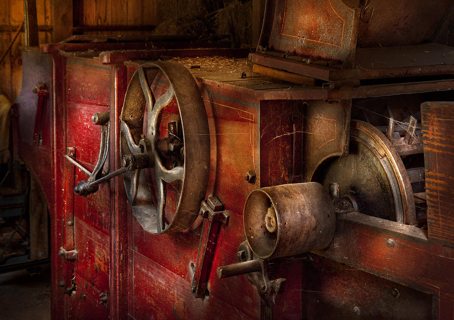 Hdr Photograph - Steampunk - Gear - It Used To Work by Mike Savad