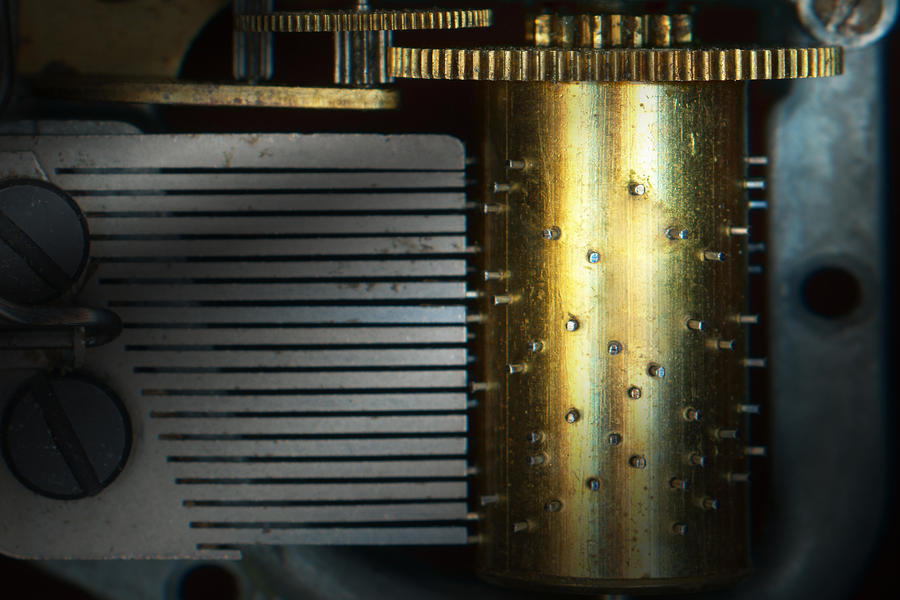 Steampunk Photograph - Steampunk - Gears - Music Machine by Mike Savad