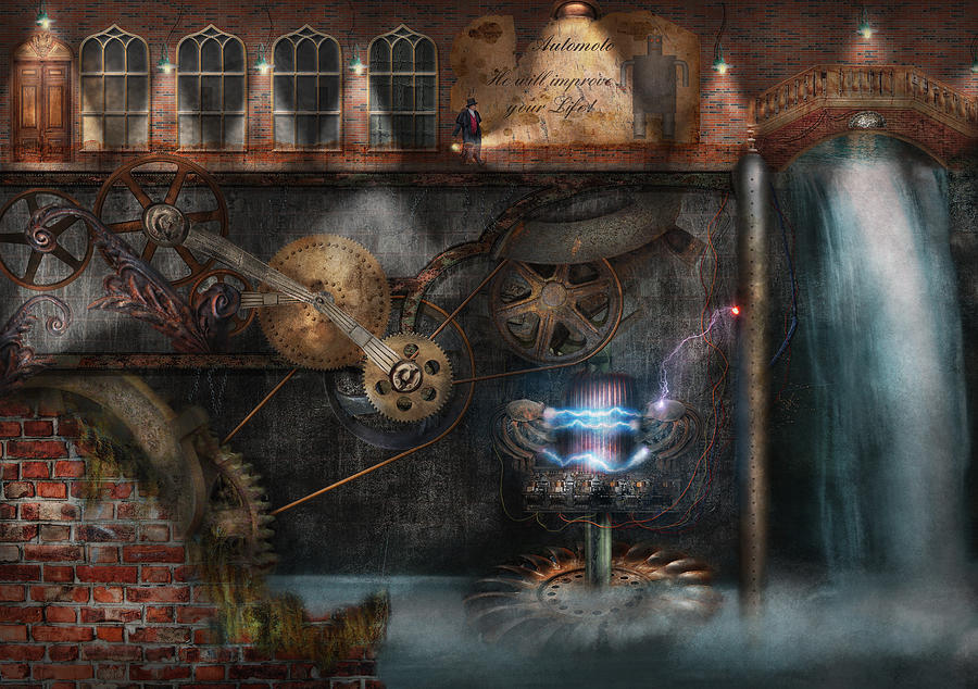 Hdr Photograph - Steampunk - Industrial Society by Mike Savad