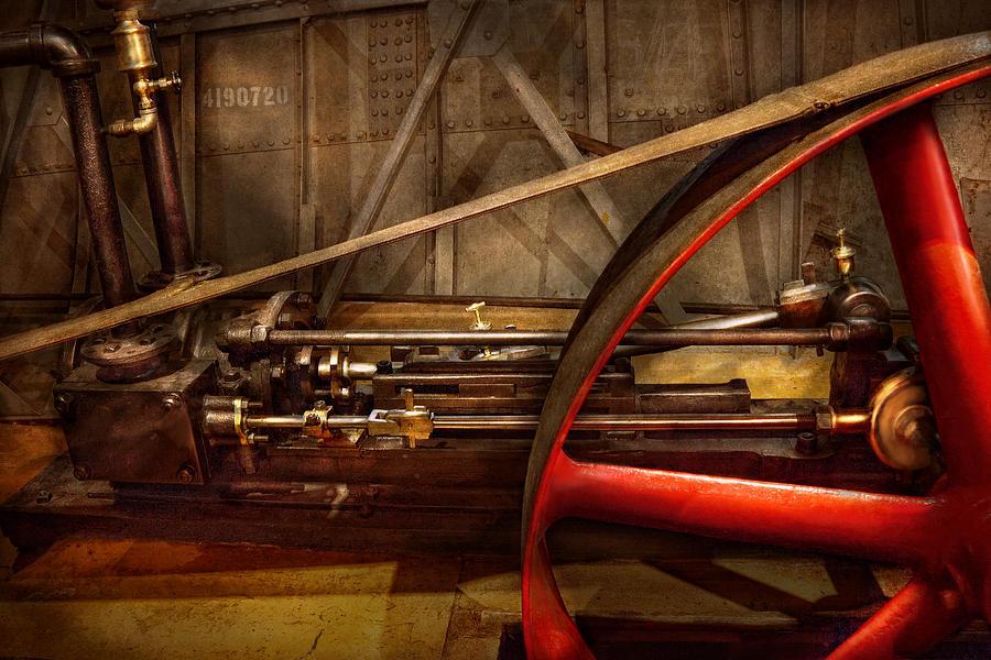 Steampunk Photograph - Steampunk - Machine - The Wheel Works by Mike Savad