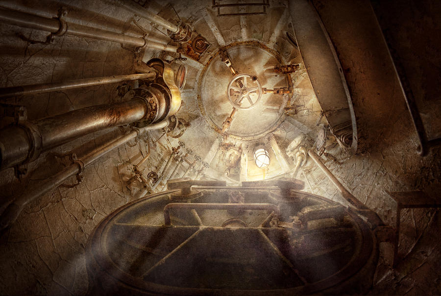 Steampunk Photograph - Steampunk - Naval - The Escape Hatch by Mike Savad