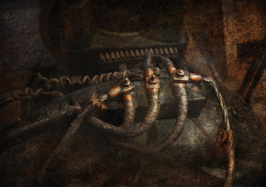 Hdr Photograph - Steampunk - Electrical - Frayed Connections by Mike Savad
