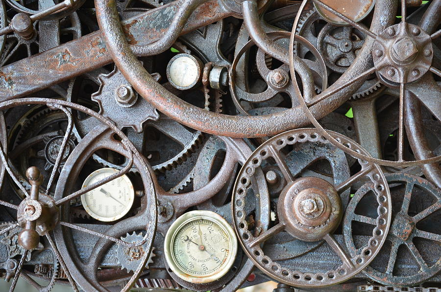 Steampunk Gears Photograph By Mandi Howard