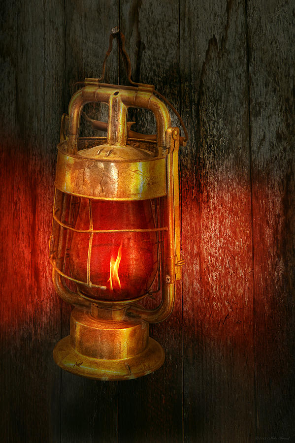 Redlight Photograph - Steampunk - Red Light District by Mike Savad