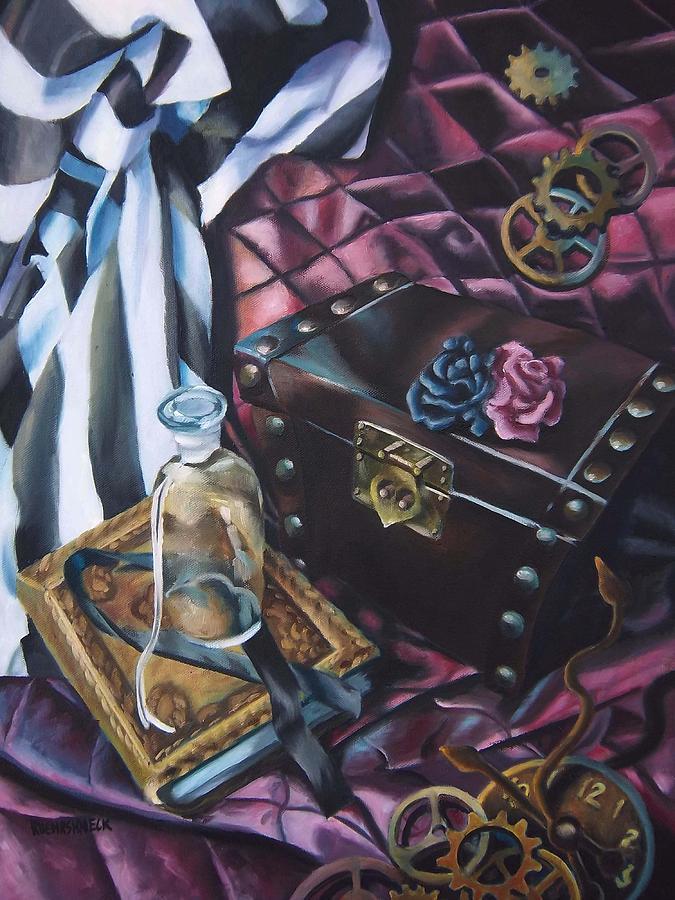 Paintings Painting - Steampunk Still Life by Lori Keilwitz