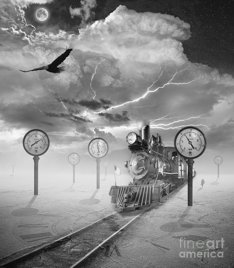 Steampunk Photograph - Steampunk Traveler by Keith Kapple