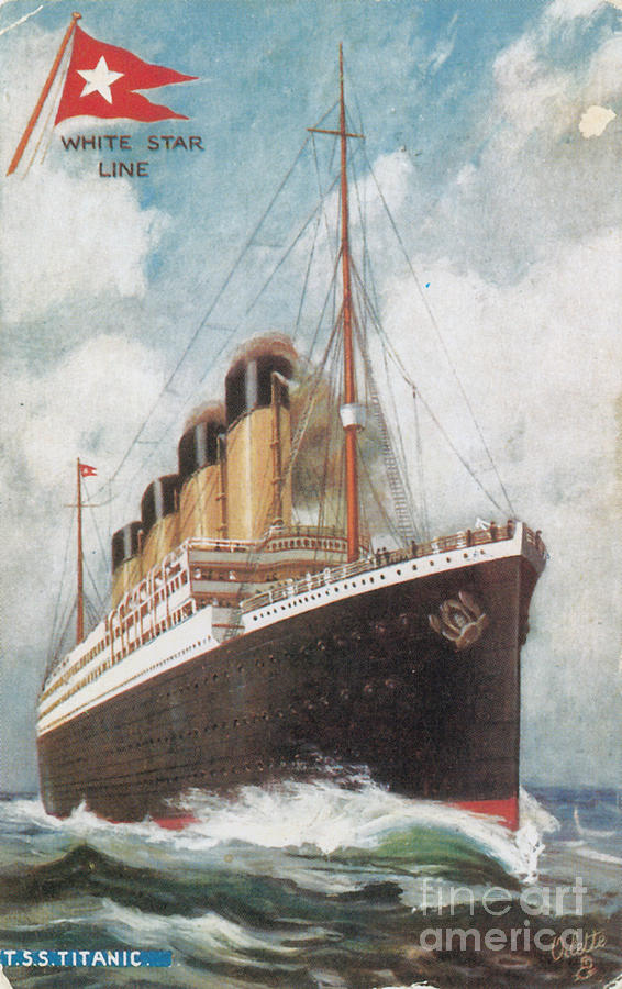 Titanic Photograph - Steamship Titanic by Photo Researchers