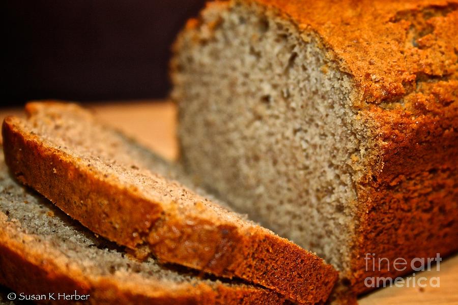 Food Photograph - Steamy Fresh Banana Bread by Susan Herber