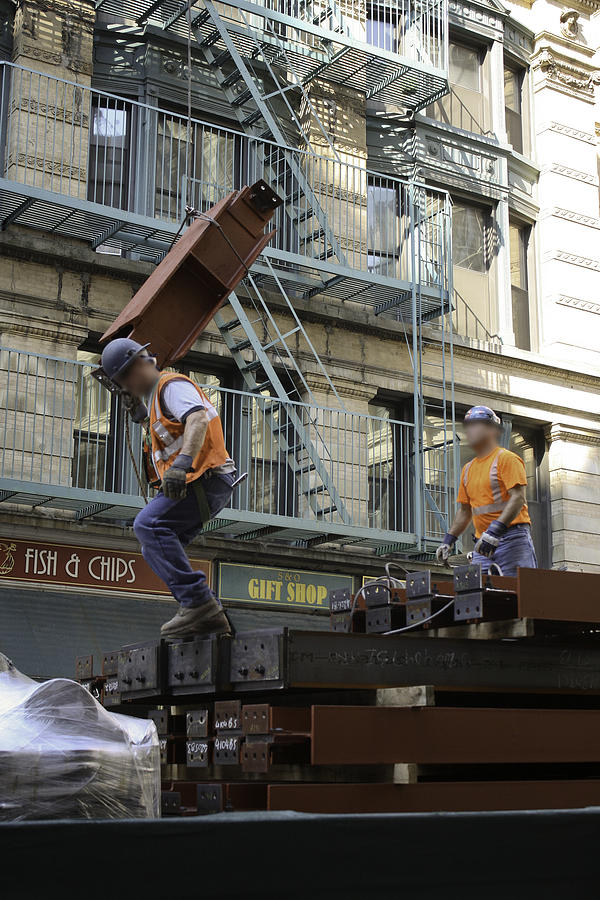 Men Photograph - Steel And Girders by Cathy Brown