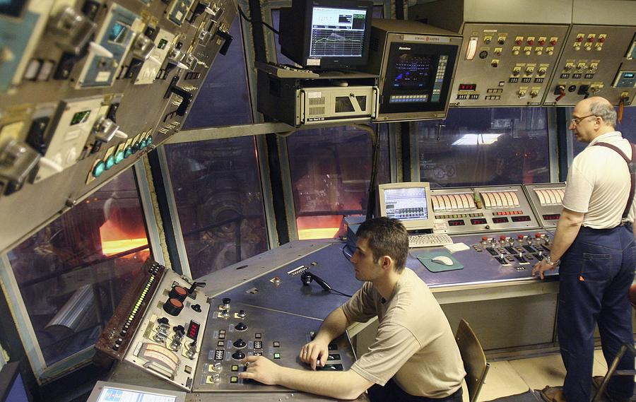 Equipment Photograph - Steel Production Control Room by Ria Novosti