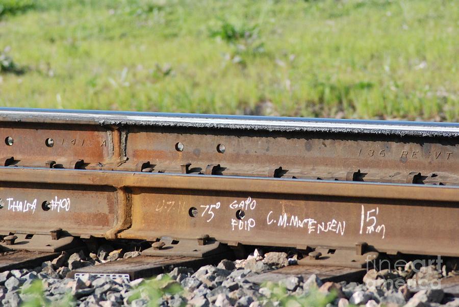 Railroad Photograph - Steel Tracks by Mark McReynolds