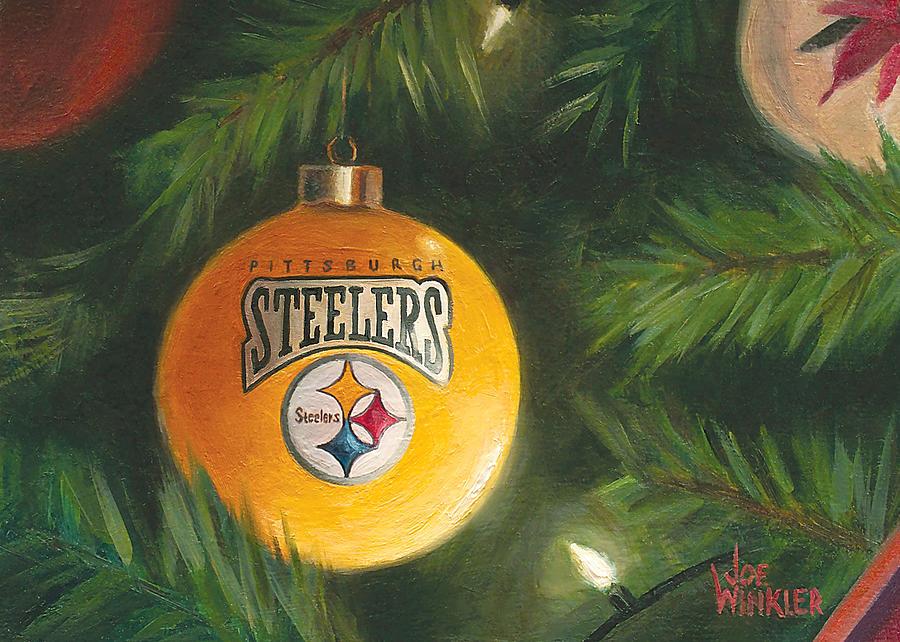 Steelers Ornament by Joe Winkler