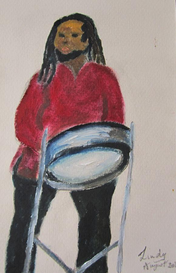 Steelpan man by Jennylynd James