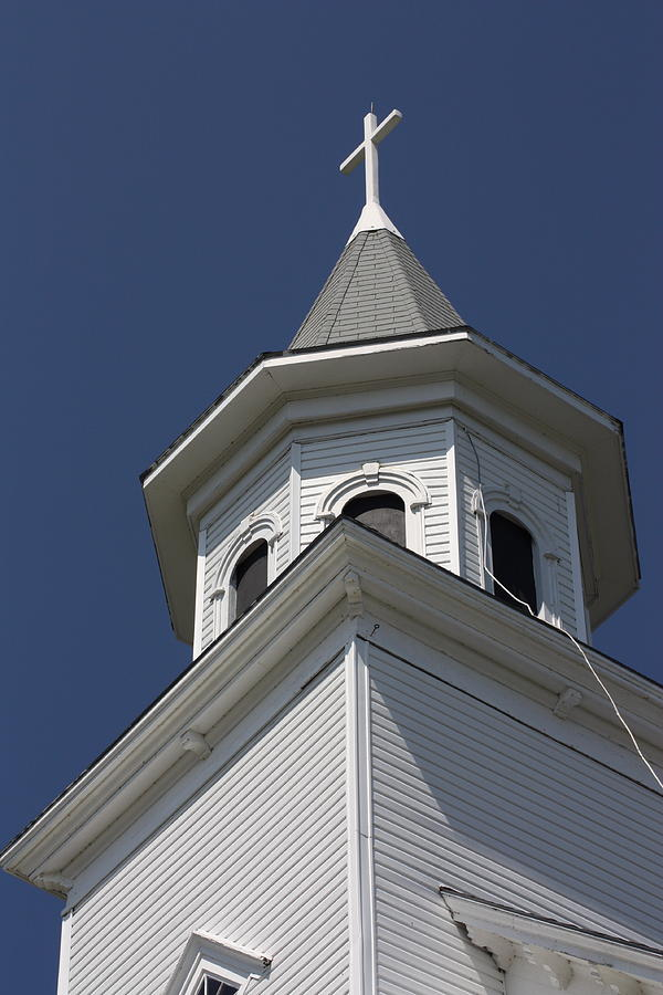 Church Photograph - Steeple Top by Robin Regan