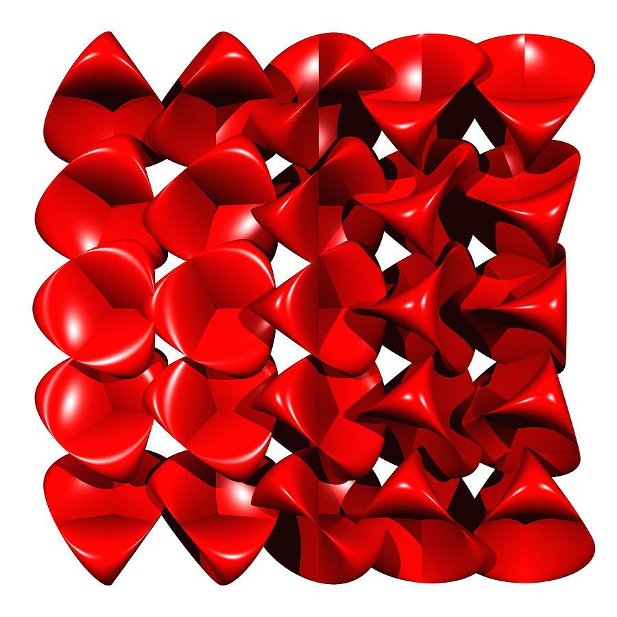 Red Digital Art - Steiner Surfaces by Miroslav Skaloud