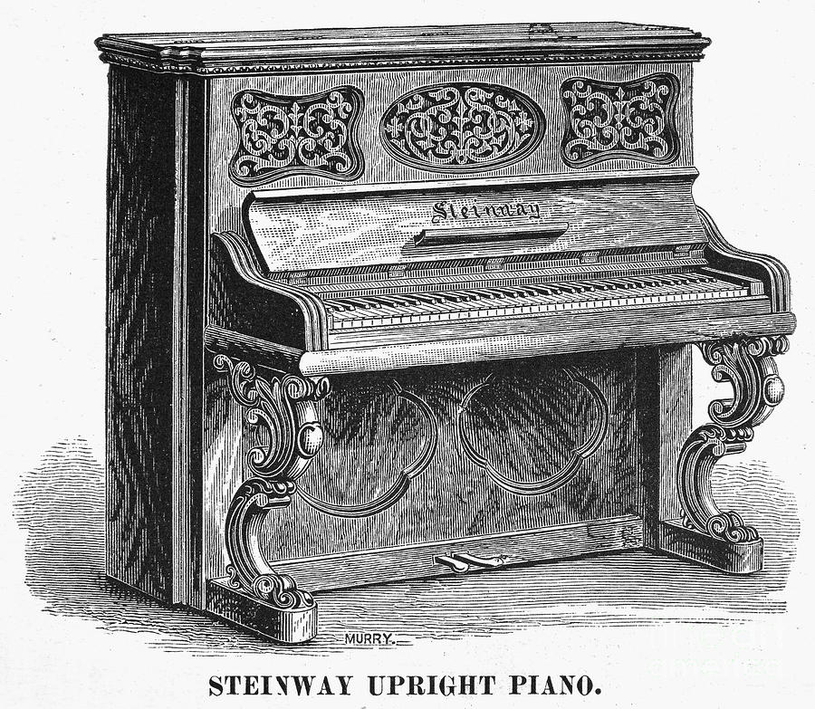 1878 Photograph - Steinway Piano, 1878 by Granger