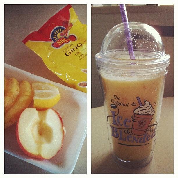 Smoothie Photograph - Step 1: Blend Pineapple, Apple, Lemon by Aliya Zin