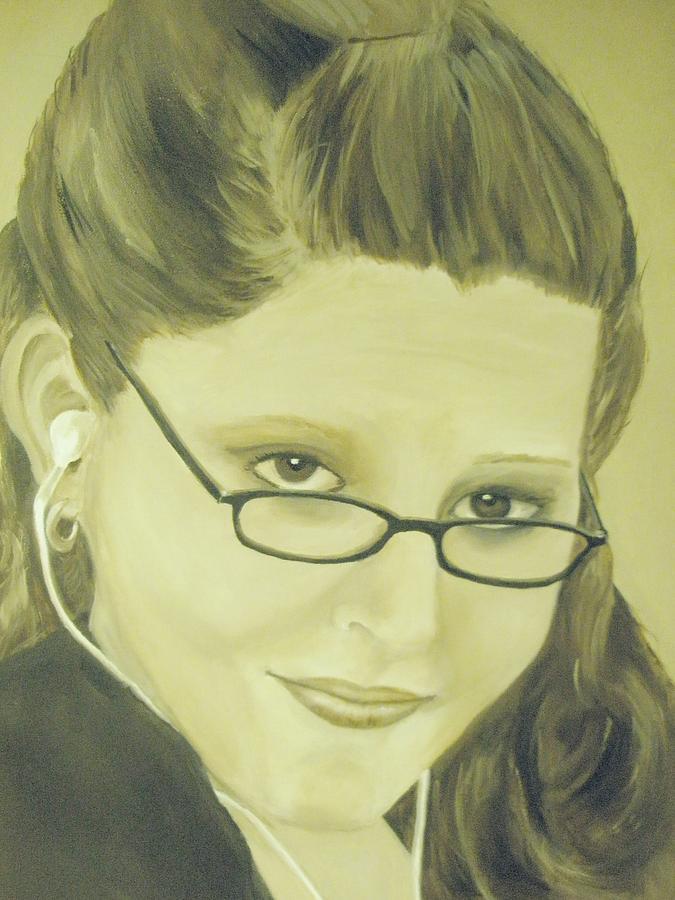 Portrait Painting - Stephanie by Linda McCarthy