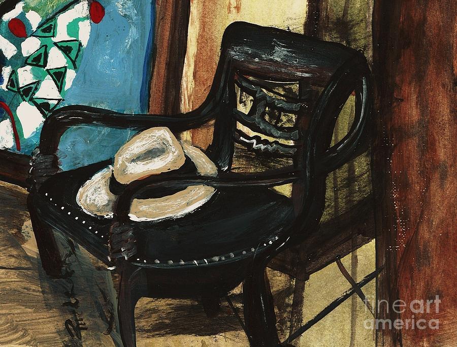 Impressionism Painting - Stephens Fedora by Sandra Richardson