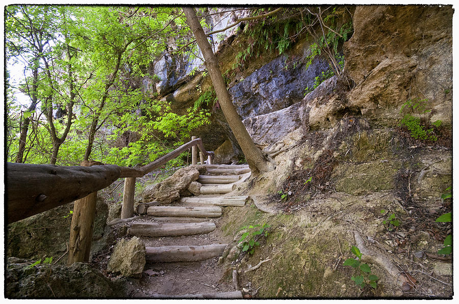 Hamilton Pool Photograph - Steps To The Cave by Lisa  Spencer