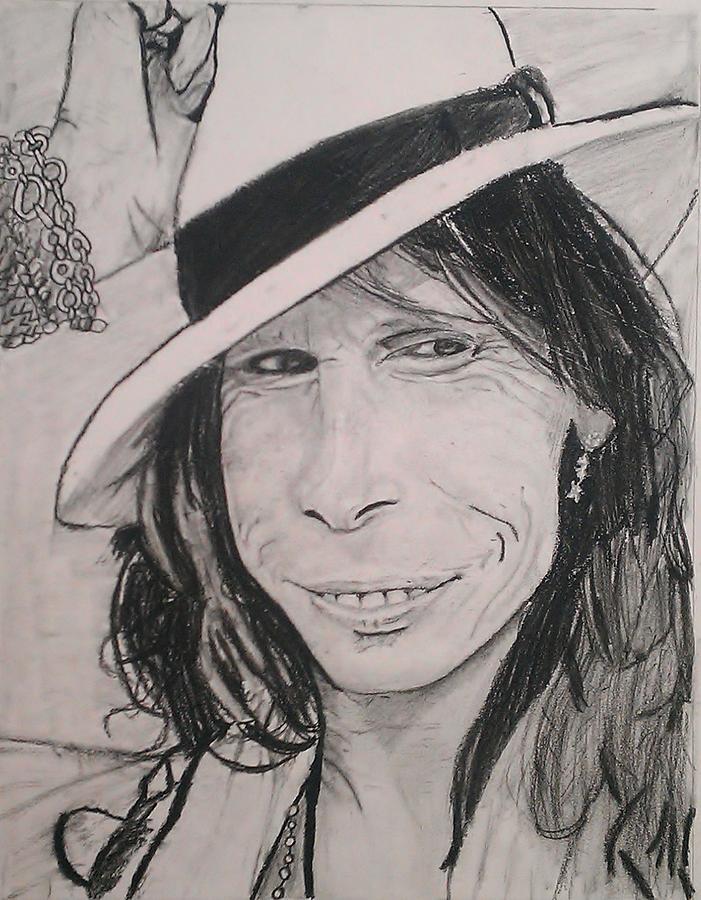 Steven Drawing - Steven Tyler by Brittany Frye