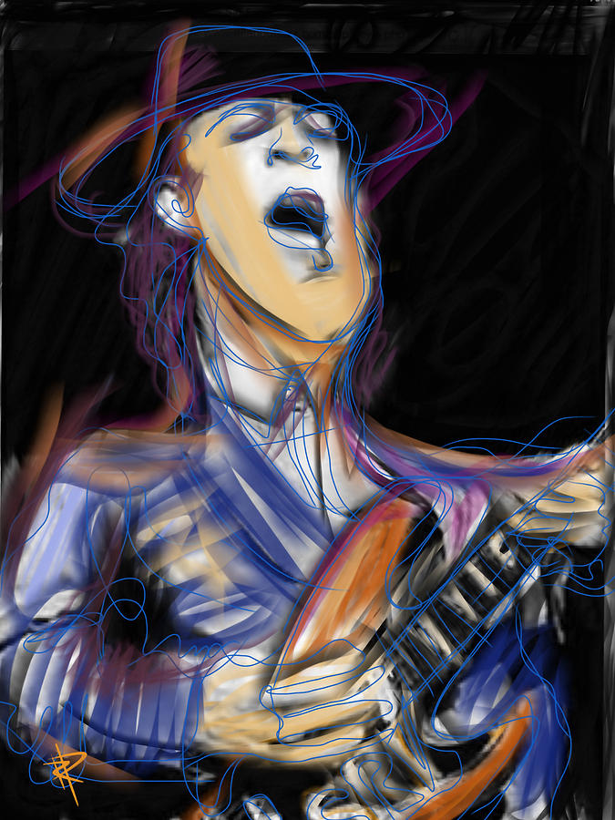 Stevie Ray Vaughn Mixed Media - Stevie Ray by Russell Pierce