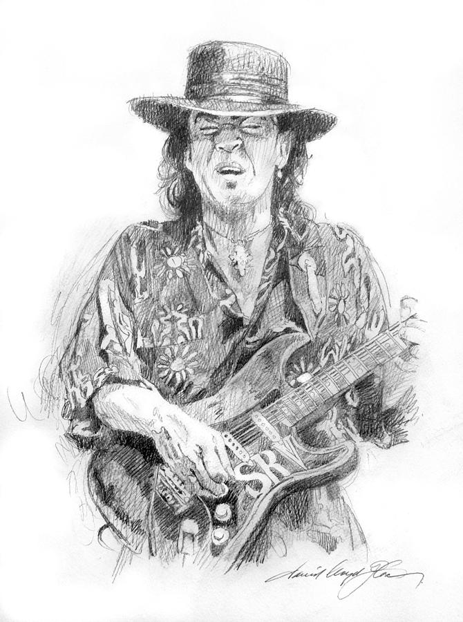 Stevie Ray Vaughan Painting - Stevies Blues by David Lloyd Glover