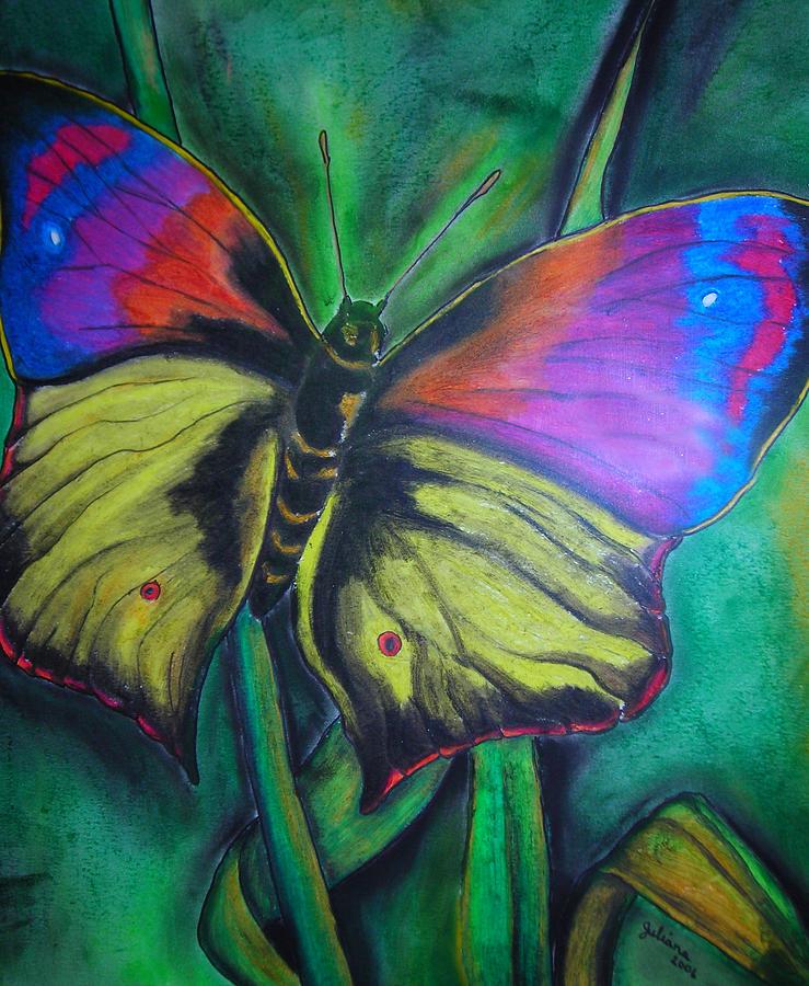 Still Life Drawing - Still Butterfly by Juliana Dube