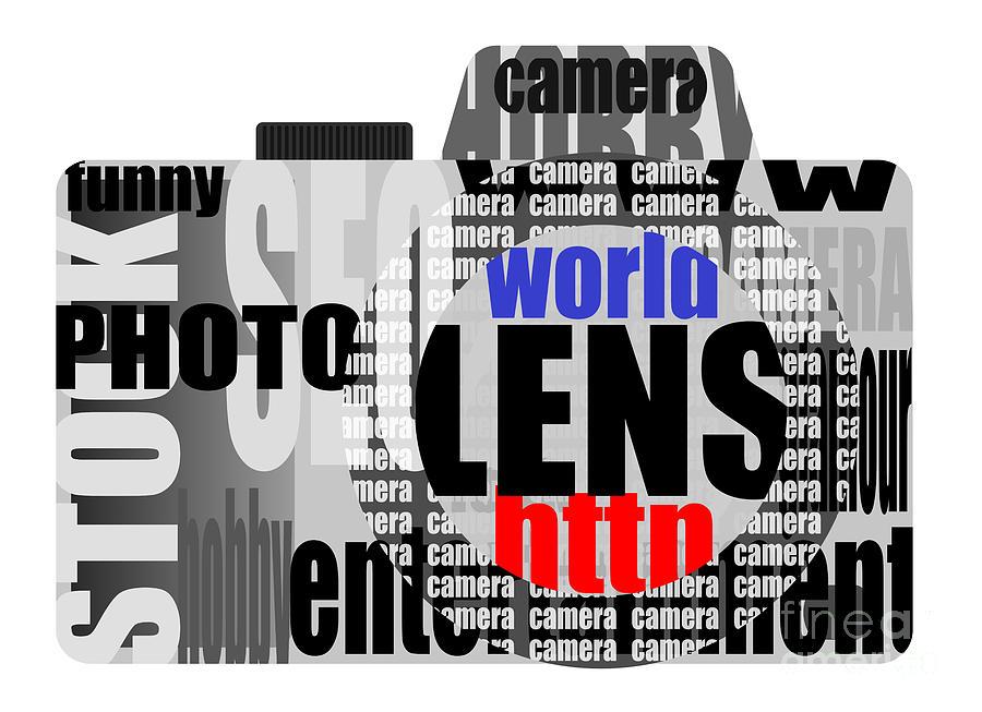 Still Camera From Words Digital Art