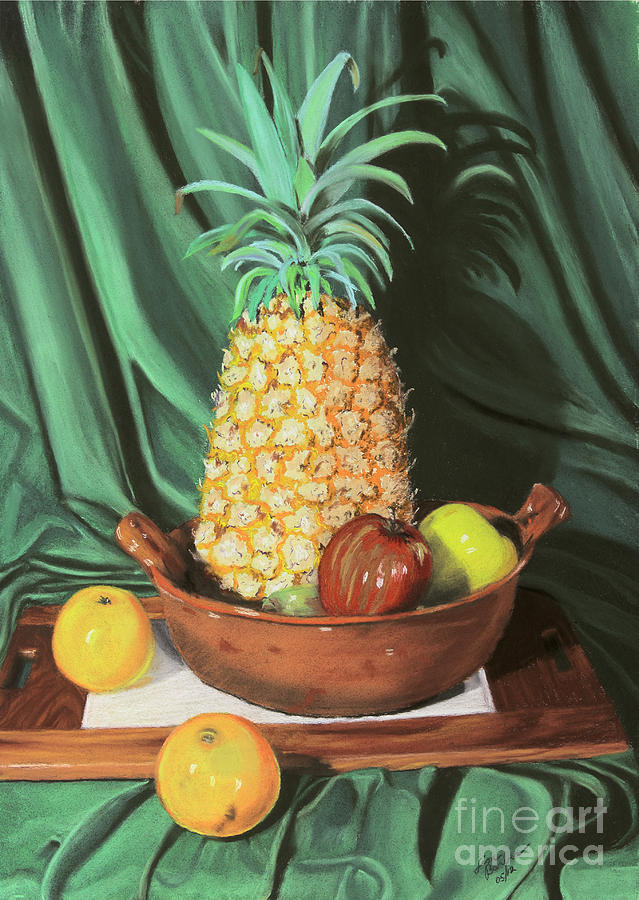 Pineapple Painting - Still Life 1 by Jim Barber Hove