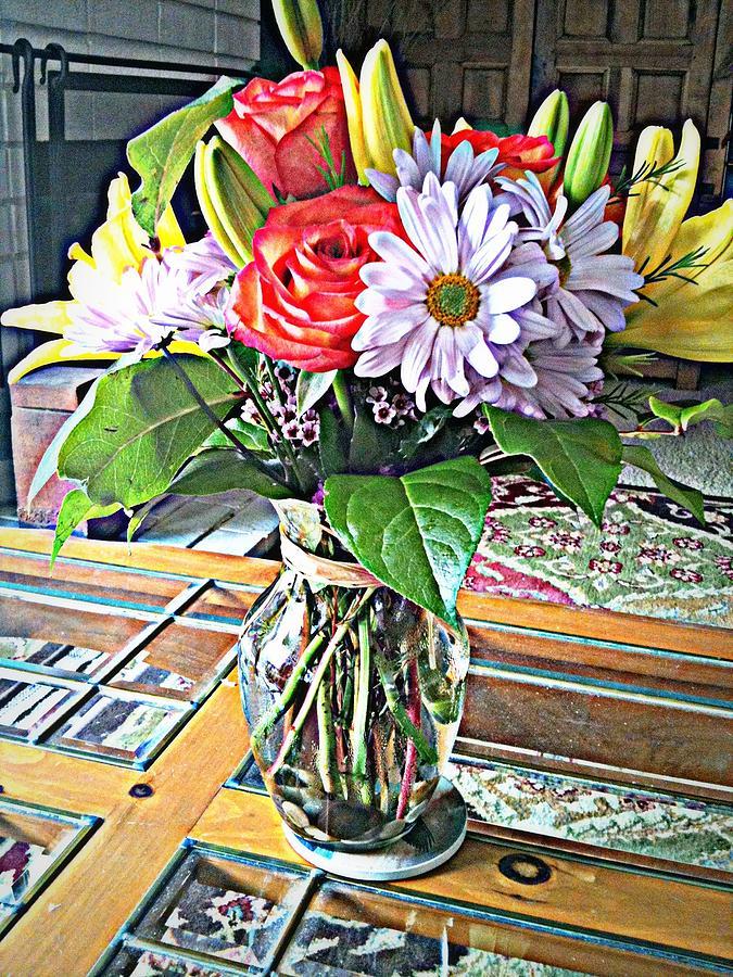 Still Life Flower Vase Photograph by Vicki Coover