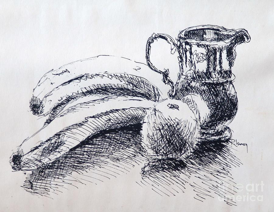 Pen And Ink Drawing - Still Life by Rod Ismay