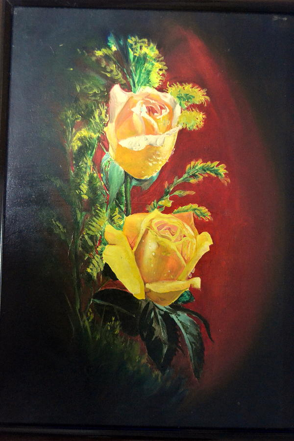 Roses Painting - Still Life- Roses by Julie Ignatius