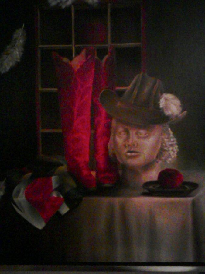 Realistic Painting - Still Life With Boots by Karin Eisermann