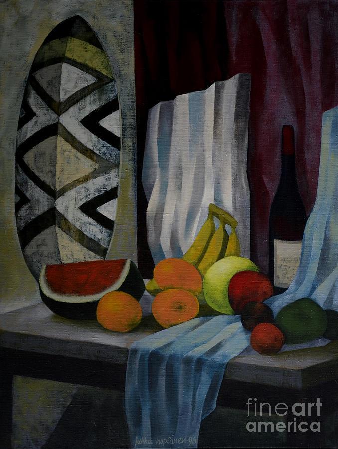 Still Life Painting - Still Life With Fruit by Jukka Nopsanen