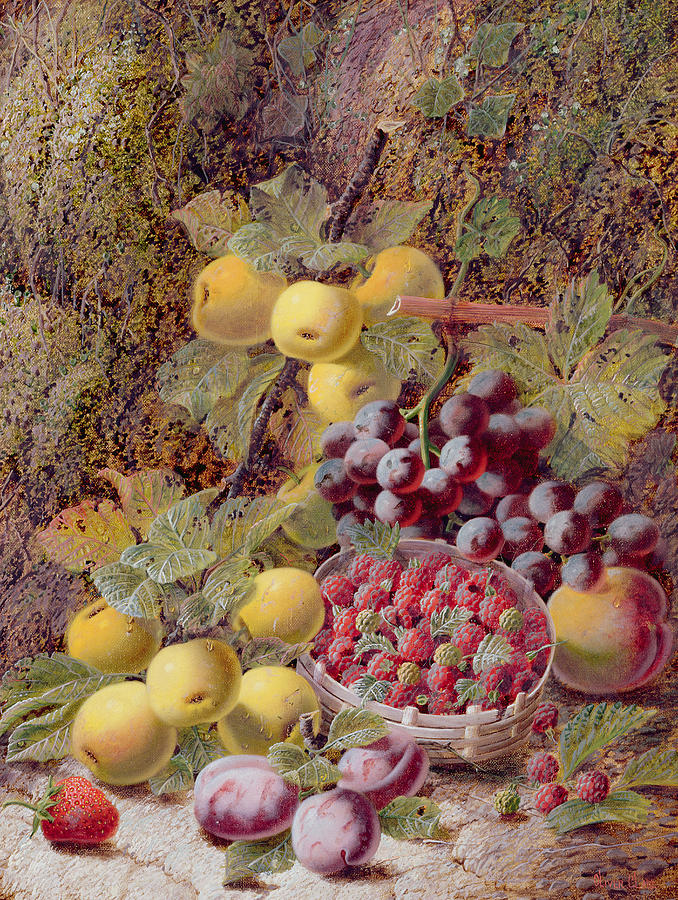 Oliver Clare Painting - Still Life With Fruit by Oliver Clare