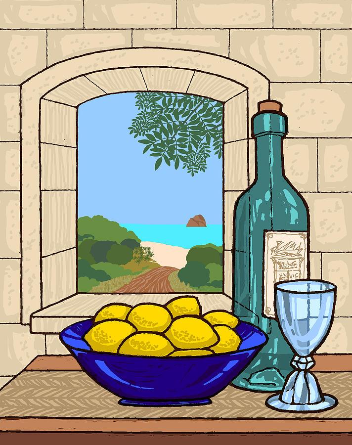 Still life with lemons by David Burkart