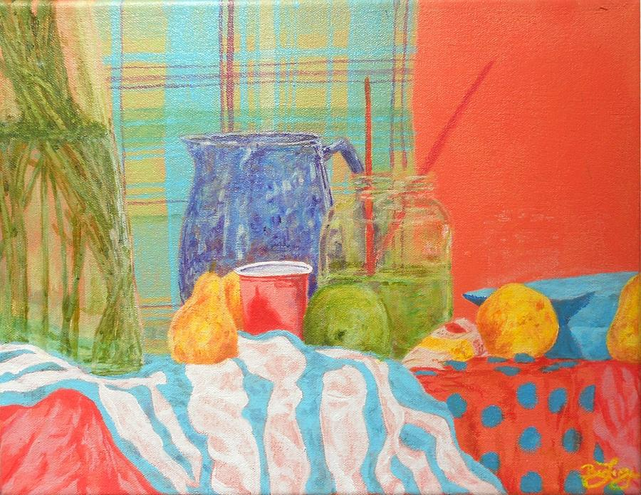 Acrylics Painting - Still Life With Pears by Ben Leary