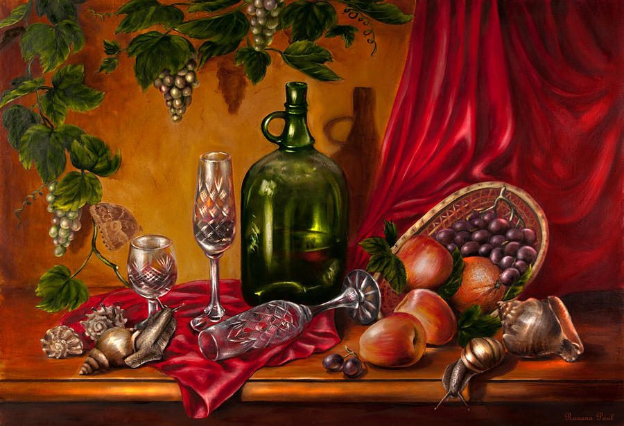 Food Painting - Still Life With Snails by Roxana Paul
