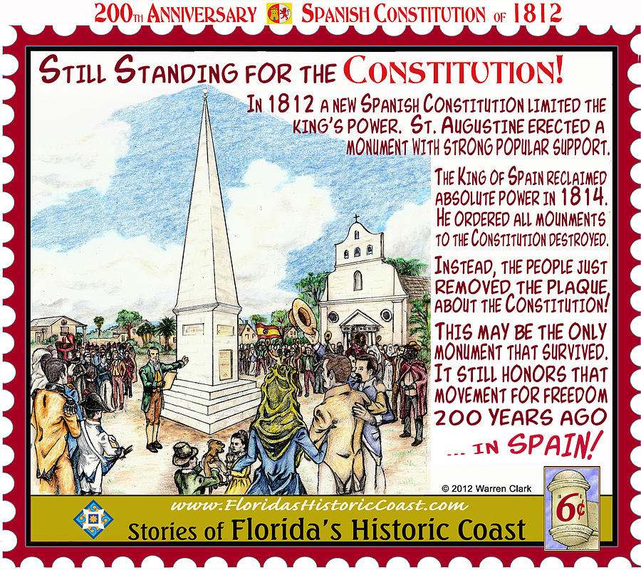 Florida History Mixed Media - Still Standing For The Constitution by Warren Clark