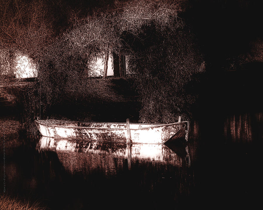 Boat Photograph - Still Waters by Mimulux patricia No