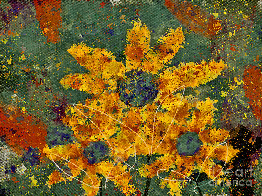 Painting Digital Art - Stimuli Floral - S04ct01 by Variance Collections