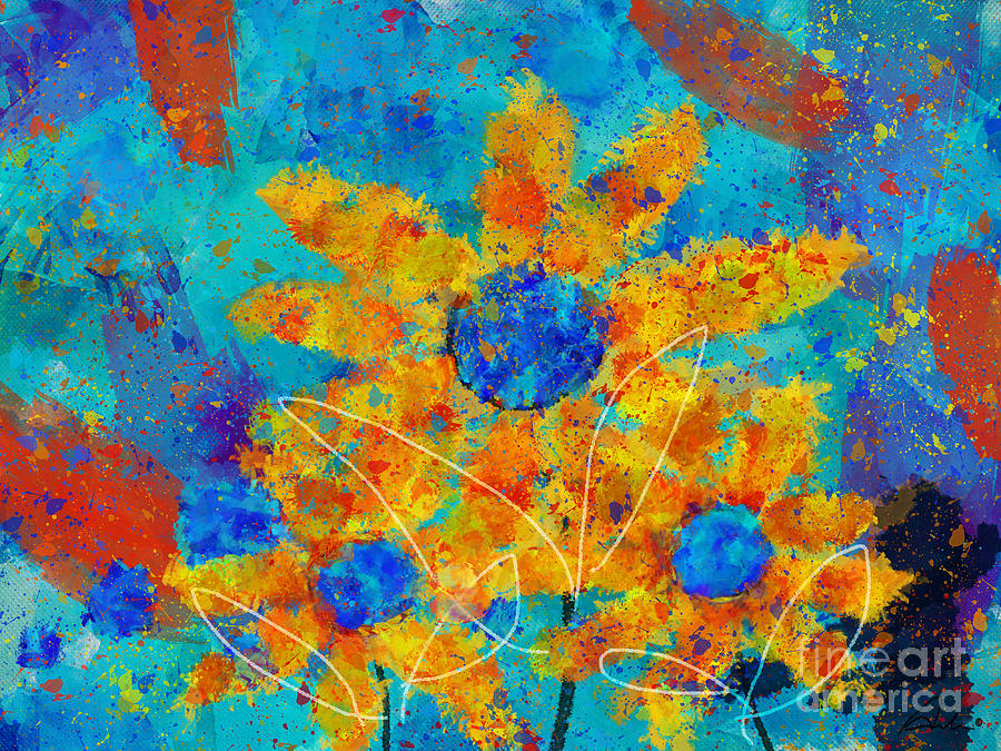 Painting Digital Art - Stimuli Floral S01 by Variance Collections