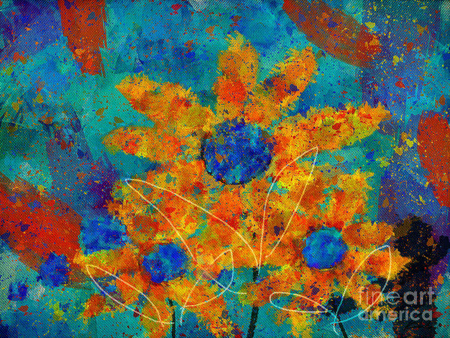 Painting Digital Art - Stimuli Floral -s01t01 by Variance Collections