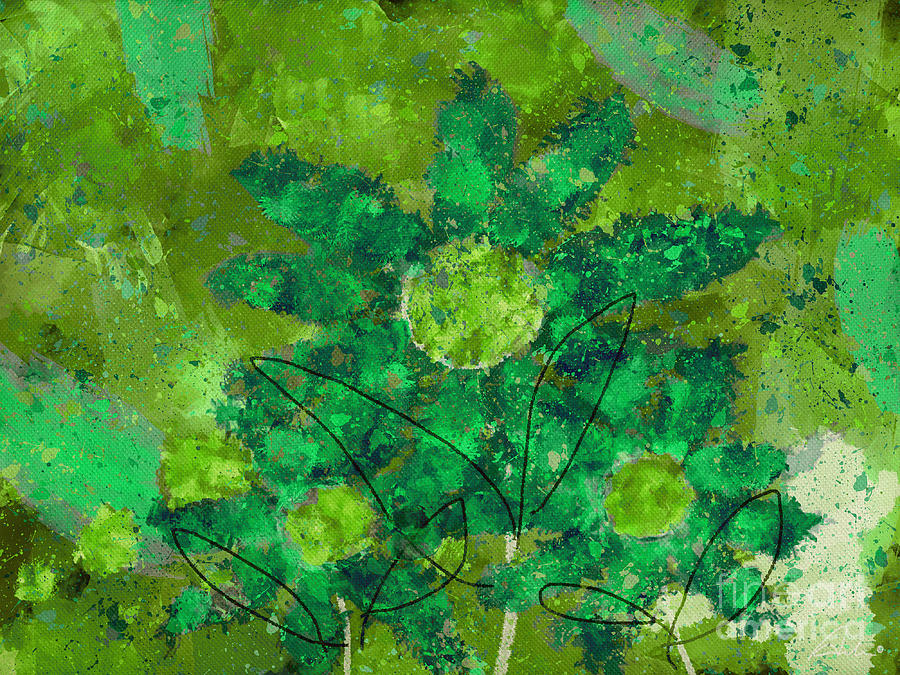 Painting Digital Art - Stimuli Floral -s11bt01 by Variance Collections