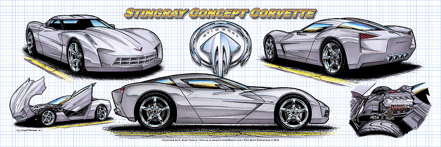 2010 Stingray Concept Corvette by K Scott Teeters