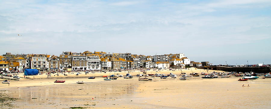 Landscape Photograph - St.ives Bay.cornwall by Karen Grist